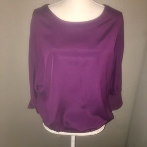NWOT SZ S THE LIMITED MAGENTA/WINE TOP